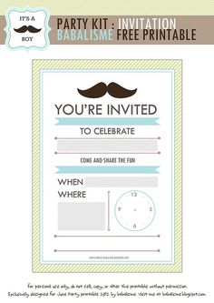 Mustache Invitation By Babalisme Babalismeblogspot 2012