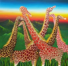 Surreal giraffes