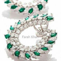 Like a dream Beautiful earrings by @farahkhanali @farahkhanfinejewellery…