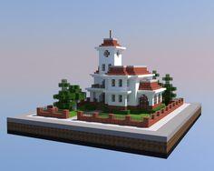 A Victorian mansion Minecraft Villa, Minecraft Building Guide, Minecraft City Buildings, Minecraft Medieval, Minecraft Plans, Minecraft House Designs, Minecraft Survival, Minecraft Tutorial, Minecraft Blueprints