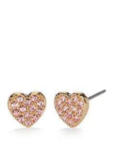 kate spade new york  Pave Heart Stud Earrings
