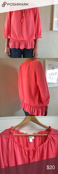 Ann Taylor Loft blouse Very comfortable Ann Taylor Loft pink long sleeve blouse. Perfect for fall! In excellent condition. Ann Taylor Tops Blouses