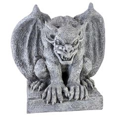 "Design Toscano 11½"" ©""Gomorrah The Gothic Gargoyle Faux Antique Stone Statue  #DesignToscanoExclusive"