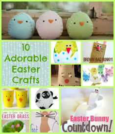 these 10 adorable Easter crafts. They're mostly for kids, but a couple are cute enough that I might just attempt them for my own Easter decor.