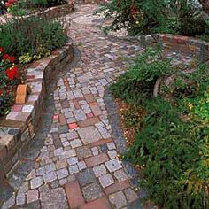 Love this mixture of different stones :-) for a backyard patio maybe...