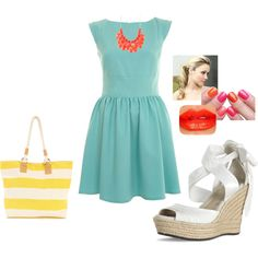 Summer outfit, polyvore