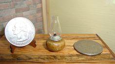 Dollhouse Miniature 1:12 Home Décor Kerosene Lantern Lamp 1 inch Tall #1-7 #HandcraftedMiniaturesbyOppi