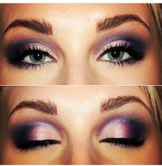 Mary Kay mineral eye colors in iris, sweet plum, denim, and polished stone.