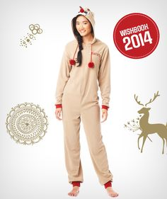 Sing and dance along to Rudolph the Red-Nosed Reindeer in this adorable onesie. #Rudolph