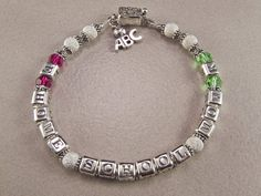 Personalized Bracelet Mothers Bracelet Home by KrisTsCreations, $60.00