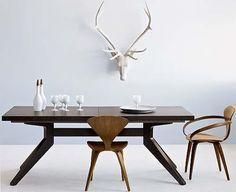 Matthew Hilton, outstanding expandable dining table, oak.