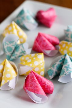 How To Make Paper Fortune Cookies