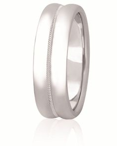 Classic Milgrain Center Wedding Band