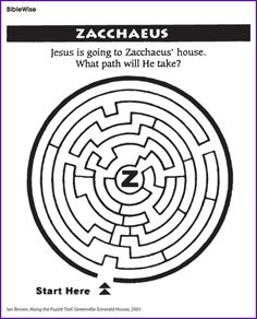 Help Jesus Follow The Path To Zacchaeus House