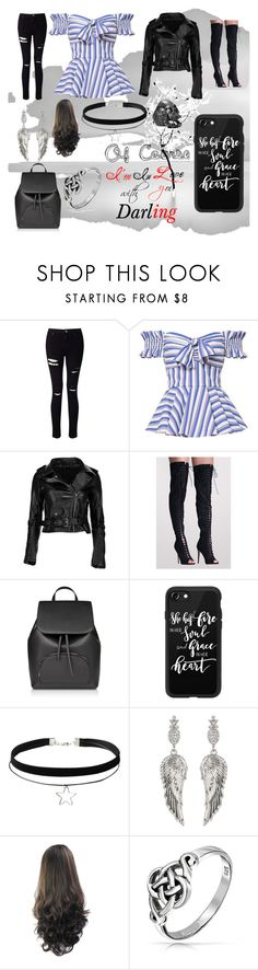 """""""Of Course I'm In Love With You"""" by lunastone0 on Polyvore featuring Miss Selfridge, Caroline Constas, Pilot, Casetify, House of Harlow 1960 and Bling Jewelry"""