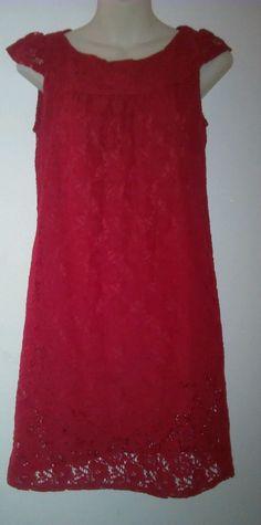 Velvet Torch Women's Cap Sleeved Laced Dress size small EUC