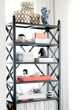 White, black & glam accents. -xx #interiordesign
