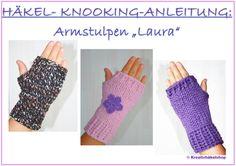 Häkel-Knooking-Anleitung Armstulpen
