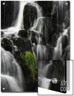 Water Staircase Art on Acrylic by Philippe Sainte-Laudy at Art.com