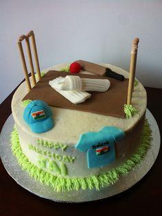 Husbands Birthday Cake Idea Cricket Themed Birthday Cake
