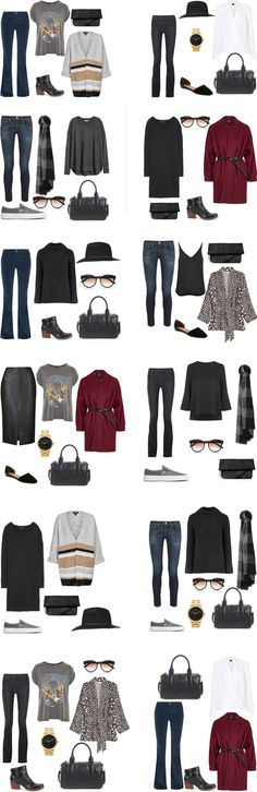 Amsterdam Packing Light Packing List Outfit Options. Entire packing list on the blog. #packinglist #packingllight #travellight