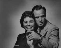 """Marlon Brando & Jean Simmons in a Publicity still for""""Guys and Dolls """"C.1955."""