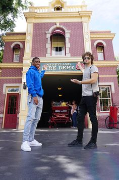 Before heading out of Disneyland park, Keegan Allen and Keith Powers stopped by the Disneyland Fire Department. They were excited to learn that Walt Disney's apartment was located right above the fire department.