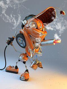 Smoker on Behance by Artur Szygulski