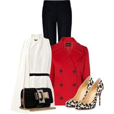 """""""Red Coat"""" by laaudra-rasco on Polyvore"""