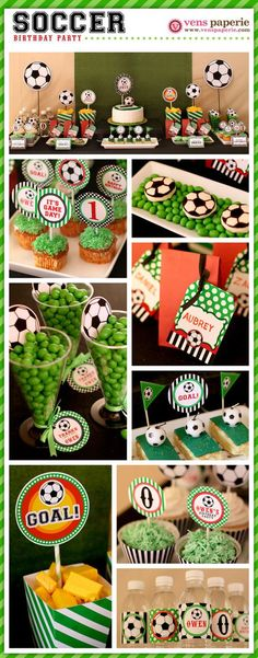 Soccer Birthday Party Package Personalized FULL Collection Set by venspaperie Soccer Birthday Parties, Sports Birthday, Soccer Party, Soccer Ball, Football Parties, Football Soccer, Football Birthday, Birthday Games, Diy Birthday