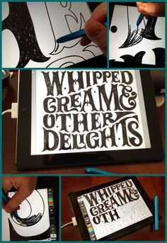 Hand drawn type compositions on the iPad2 with Adobe Ideas and Crux stylus.