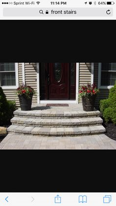 Wooden Front Steps Design Ideas Front Step Ideas Wooden Front Steps Design Ideas Door Best Throughout Idea Front Step Ideas Concrete Wooden Front Door Step Design Ideas Door Steps, Steps Design, Porch Steps, Concrete Steps, Front Porch Steps, Front Patio, Front Door, Brick Steps, Concrete Stairs