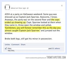 Captain Jack Sparrow gets in trouble…