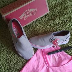 NIB CLASSIC SLIP-ON GRAYJERSEY VANS New, never worn. Perfect for casual days. It's springtime take off those boots and sport some fresh kicks. Vans Shoes Sneakers