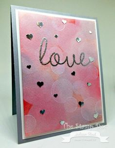 Bokeh Love: Use border punches; silhouette cameo words