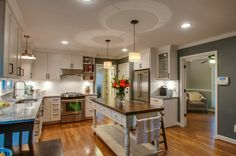 Modern traditional kitchen with great island!