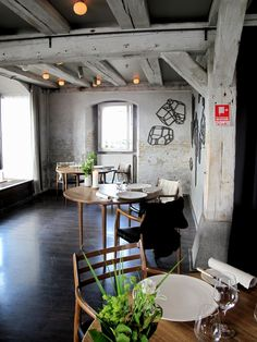 This is actually from the restaurant Noma, in Denmark, but I love the style.