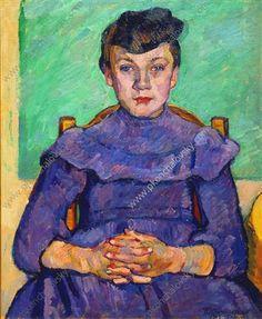"Pyotr Konchalovsky, Slavianka, Ukraine (1876-1956) Russian painter. Post-Impressionism, Socialist Realism. ""Girl from Arles"" (1908). 73x60cm."