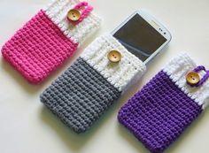 Anlatımlı Örgü Telefon Kılıfları | Hobi Örnekleri