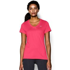 Women's Under Armour Tech Short Sleeve Tee, Size: Medium, Light Pink
