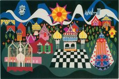 WALT DISNEY FAMILY MUSEUM Mary Blair's design concept for the Disney attraction