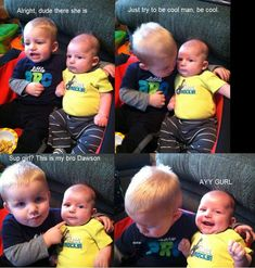 Memes is your source for the best & newest Memes, Funny Pictures, and hilarious videos. Find memes or make them with our Meme Generator. Siblings Funny, Funny Babies, Funny Kids, Sibling Memes, 9gag Funny, Funny Jokes, Hilarious, Funniest Memes, Funny Minion