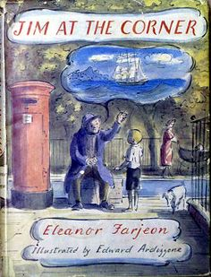 Jim at the Corner, written by Eleanor Farjean, illustrated by Edward Ardizzone Books For Teens, Teen Books, Edward Ardizzone, Madeline Book, Children's Picture Books, Vintage Children's Books, Book Illustrations, Childrens Books, Illustrators