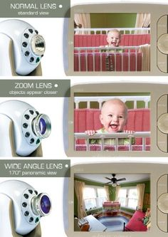Infant Optics DXR-8 Video Baby Monitor with Interchangeable Optical LensFirst-ever monitor with interchangeable optical lens capability - allowing you to customize viewing angle and zoom Large 3.5 inches full color LCD display in sleek, compact unit with retractable antenna, with sound-activated LED display Remote pan, tilt and digital zoom