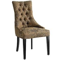 Laurier Tufted Dining Chair clearance at pierone $149.98 just need a slipcover. looks comfy!