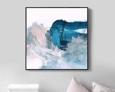 Abstract Art, Printable Abstract Art, Large Wall Art, Large Abstract Art, Modern art, Blue art, Living Room Art, Instant Download, Blue Art