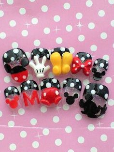 Mickey Mouse nails  OMG!!! Too adorable, want these very much so.
