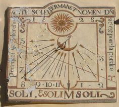 Cadran solaire méridional.