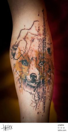 The Prince Fox Leg Tattoo
