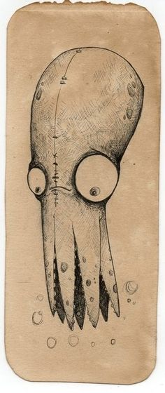 This squid would make a great print in our office.